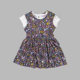 Girl's Summer Frock Gather Soft Pleated Fabric